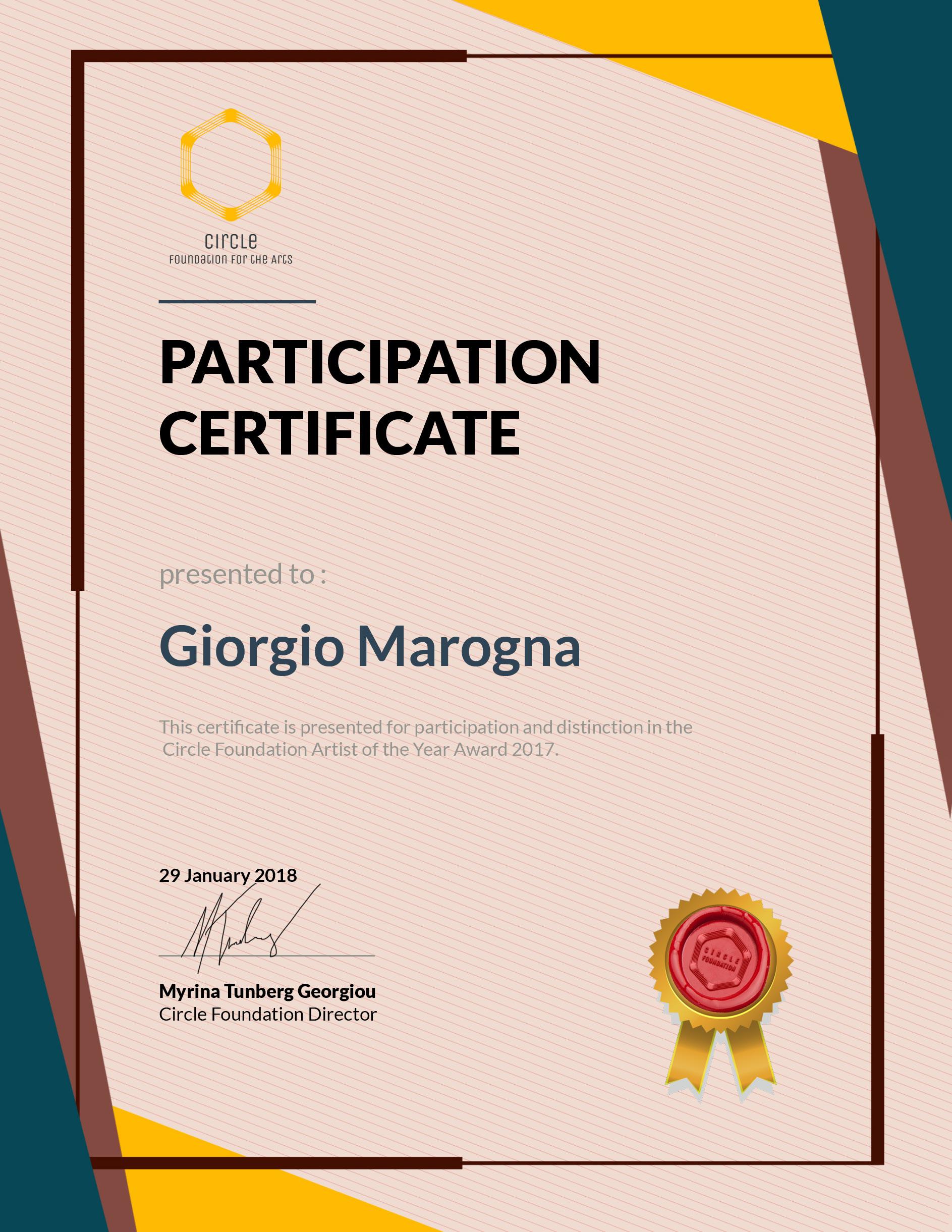 CircleFoundation-Certificate-Giorgio Marogna